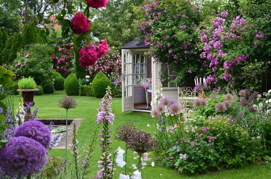 Schöne Gärten willkommen beim rosengarten bergschneider